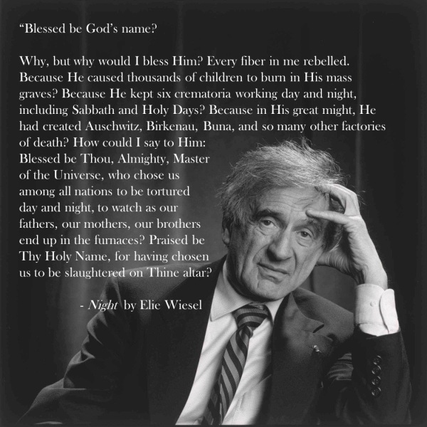night holocaust Minor details have been altered, but what happens to eliezer is what happened to wiesel himself during the holocaust it is important to remember, however, that there is a difference between the persona of night's narrator, eliezer, and that of night's author, elie wiesel.